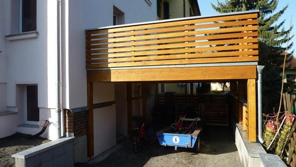 Hausanbau - Terrasse - offene Überdachung