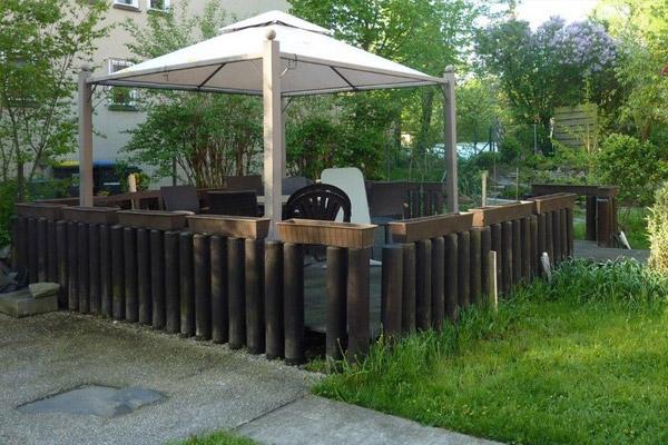 Bauen mit Holz: Holzüberdachung