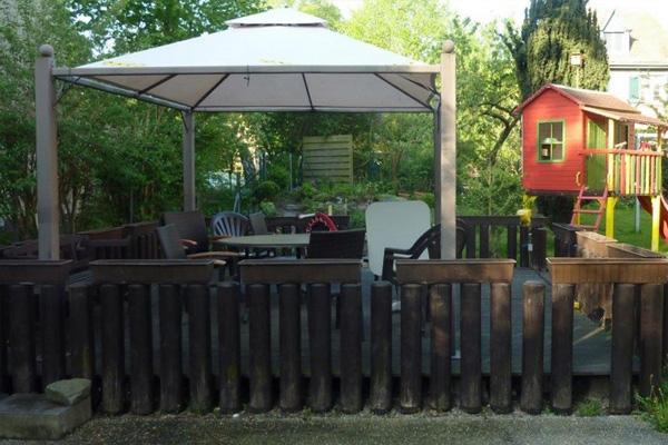 Holzüberdachung für Außenbereich