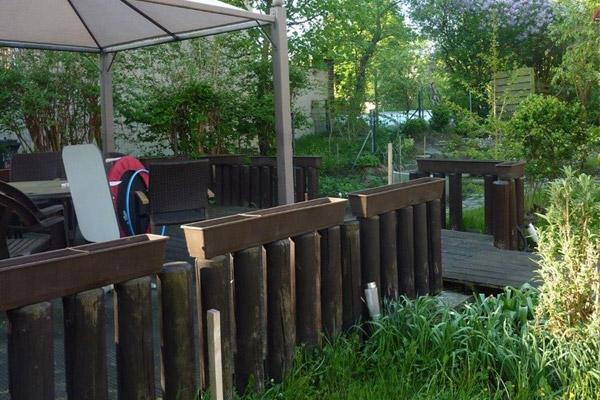Terrassenfläche: Holzüberdachung