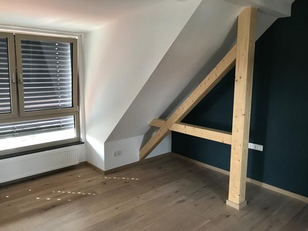 Dachgeschoss Ausbau mit Basan. Bauwerke aus Holz